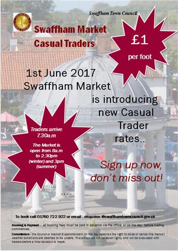 - Swaffham Market - Casual Traders