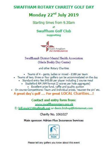 - Swaffham Rotary Charity Golf Day