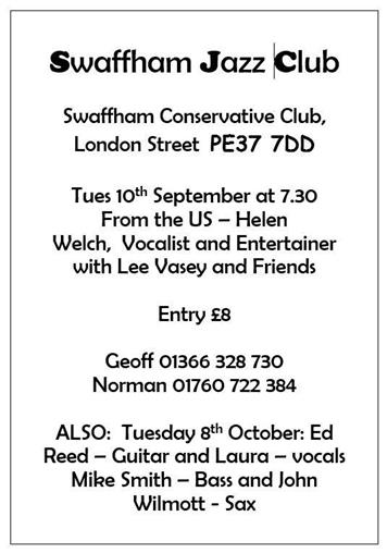 - Swaffham Jazz Club....