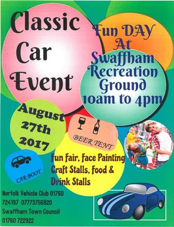 - Swaffham Bank Holiday weekend event